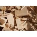 Recorte de madera de pino